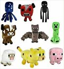 Minecraft Plush Toys 6 To 8 Inches Long FAST USA SHIPPING For Sale