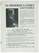 Dr. Frederick A. Cook's Lectures on the Arctic and the Antarctic.