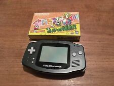 Nintendo Game Boy Advance GBA Black Handheld Console NEW SCREEN + Game