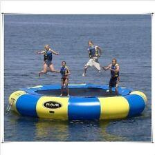 4M Diameter Inflatable Water Trampoline Bounce Swim Platform Lake Toy+blower Y