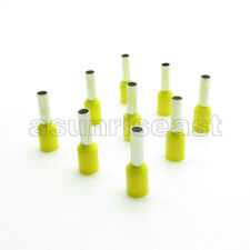 1000 Yellow 10awg Cable Pre Insulated Ferrules Terminal Wiring Connectors E6012