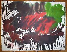 Cadoret Michel encre et aquarelle sur papier signée datée art abstrait abstract