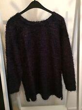Oversized Pullover Vintage Lila Lurex