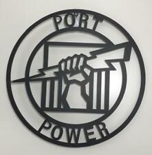 AFL Port Adelaide Power Metal Wall Art Plaque Sign Australian Football 500mm