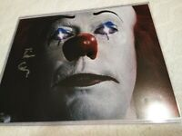 TIM CURRY Signed Pennywise Stephen King IT 8x10 Photo Beckett BAS COA AUTO NEW