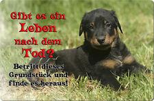 BEAUCERON - A4 Metall Warnschild Alu SCHILD Hundeschild Türschild - BUC 06 T19