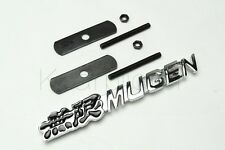 1Pcs Car Alloy Metal Black MUGEN Front Grill Grilles Decoration Badge Emblems