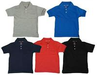 Boys T-Shirt Plain Tee Polo Top Toddler Collared Cotton Summer 6 Months-6 Years