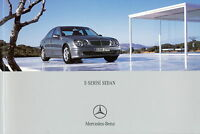 Mercedes E-Serisi Sedan Prospekt 2005 30.9.05 E Klasse brochure turkish türkisch