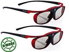 2x Hi-SHOCK® Scarlet Heaven RF 3D aktive Brille für Sony Beamer Projektor B-Ware