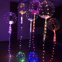 LED Light Balloons Clear Balloon Wedding Birthday Party String Light DIY Decor