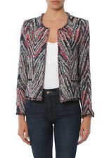NWT $620 IRO Weird Jacket Tweed Collarless Blazer in Candy Pink Multi Color 42