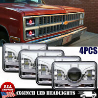 "4""X6"" Red Demon Hi-Lo Beam LED Headlight For Chevy C10 Pickup 81-1987 Ford Truck"