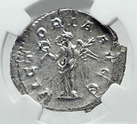 PHILIP I the ARAB Authentic Ancient 244AD Silver Roman Coin VICTORY NGC i81407