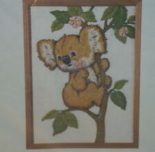 """CM Koala Crewel Picture Kit 9"""" x 12"""" Designed By Ruth Morehead-79 Factory Sealed"""