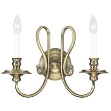 Livex Lighting Caldwell Wall Sconce in Antique Brass - 5162-01