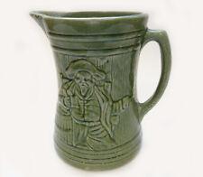 McCoy Buccaneer Stoneware Bar Pitcher Jug Ale Tankard Green Art Pottery Unmarked