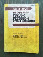 Komatsu PC200-5 PC200LC-5 Parts Catalog Book Manual