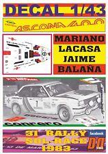 DECAL 1/43 OPEL ASCONA 400 CONRERO M.LACASA R.SOL-RACE 1983 DnF (12)