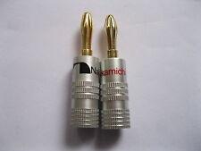 30 pcs Nakamichi Gold Plated Speaker Banana Plug Connector