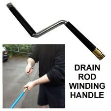 ROTATING HANDLE FOR BAILEY DRAIN RODS OR OTHER MAKES TIGHTENS RODS WHEN RODDING