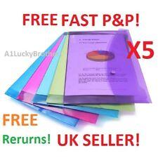 Rapesco A5 Plastic Popper A4/Foolscap Document Envelope Stud Wallet Flap Office