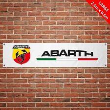 Fiat Abarth Banner Garage Workshop LARGE PVC Sign Track Motorsport Car Display