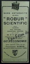 Publicité POELE ROBUR SCIENTIFIC fourneau      advert 1927