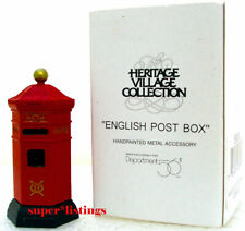 Dept. 56 English Post Box Dickens Village Mailbox Retired 2000 New 58050