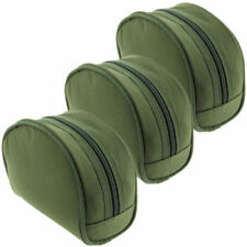 3 Padded Green Reel Cases Bags For Carp Pike Fishing Tackle