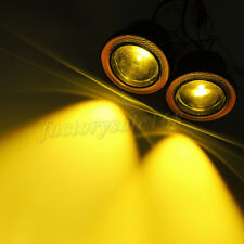 2X 3inch Yellow LED Projector Fog Light Round Amber Angel Eye Halo 4X4 ATV Truck