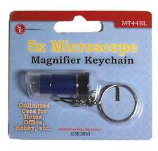 5X Magnifier Magnifying Glass Microscope Mini Keychain Key Chain Keyring Blue