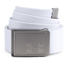 Under Armour 2018 Mens Reversible Webbing 2.0 Golf Belt - One Size Fits All White