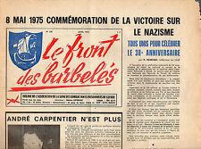 LE FRONT DES BARBELÉS + 8 MAI 1975 + Décès André CARPENTIER