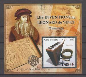 Elfenbeinküste  2012    Block  Erfinder  -  Leonardo da Vinci     **