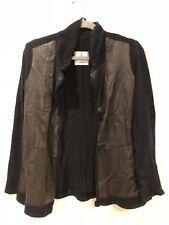 ULI SCHNEIDER German designer leather/angora jacket Size 8