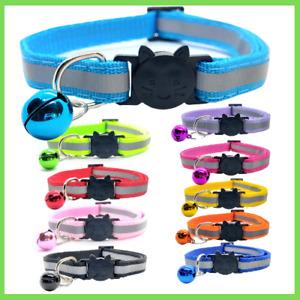 Katzenhalsband mit Glocke edel, reflektierend, Sicherheitsverschluss