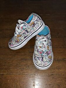 Toddler Girls Size 7 Vans Off The Wall Tennis Shoes Sneakers Llamas