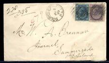 Souris East Pei 5c Maple Leaf + 2c Numeral 1899 squared circles cover Canada