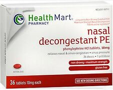 HM Phenylephrine  PE Nasal Decongestant 10mg 36 tablets