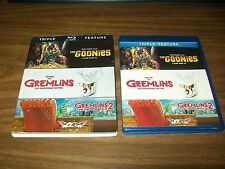 THE GOONIES / GREMLINS & GREMLINS 2 THE NEW BATCH BLURAY WITH SLIPCOVER