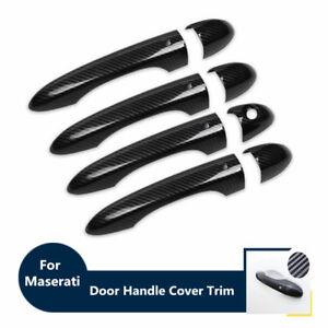 Carbon Fiber Door Handle Cover Trim For Maserati Levante Ghibli Quattroporte