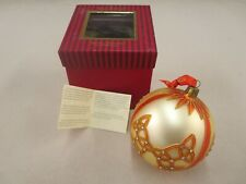 Waterford Holiday Heirlooms Celtic Diamond Knot 4 in Ball In Box Glass w/Jewels