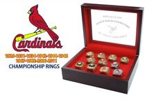 St. Louis Cardinals 11 World Series Championship Ring Set Display Display Box