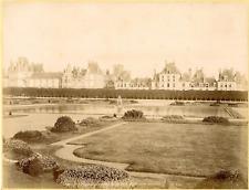 X. Phot. France, Palais de Fontainebleau, Vue prise du Parterre  Vintage albumen