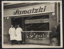 Stettin-Szczecin-Polen-1928-Seltene Photo-Fisch Geschäft Samatzki-Pommern-1
