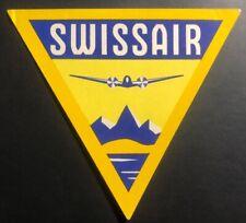 Mint Air Baggage Label Tag Swissair Switzerland