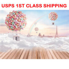7x5Ft Dream Hot Air Balloon Photography Backdrops Studio Props Photo Background