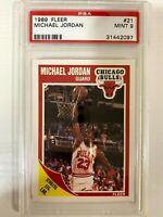 1989 Fleer Michael Jordan Scoring Leader PSA 9 Mint Chicago Bulls 🐐🏀🔥