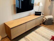 Oak Veneered TV Cabinet, Media Cabinet, Wall hung, L1,800 mm x D 400mm x H 400mm